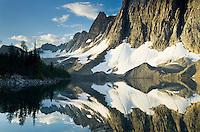 The Rockwall mirrored in Floe Lake, Kootenay National Park British Columbia Canada