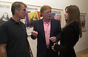 Richard Johnson, Donald Trump and Melania Knaus. Azzadine Alaia installation. 575 Broadway. NY. 22 September 2000. © Copyright Photograph by Dafydd Jones 66 Stockwell Park Rd. London SW9 0DA Tel 020 7733 0108 www.dafjones.com