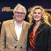 NLD/Amsterdam/20161219 - Filmpremiere Onze Jongens, Frank Timmer en partner Anette Barlo