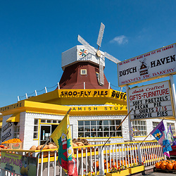 Dutch Haven, an easily recognized landmark with its large windmill,  is located along Route 30 in Ronks, Lancaster County, PA. This roadside attraction includes Amish crafts, jams and jellies, souvenirs, and its ShooFly Pie bakery.