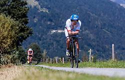 28.08.2016, Zell am See Kaprun, AUT, IRONMAN 70.3 Salzburg, im Bild Paul Reitmayr (AUT) // Paul Reitmayr (AUT) during IRONMAN 70.3, Salzburg at Zell am See- Kaprun, Austria on 2016/08/28. EXPA Pictures © 2016, PhotoCredit: EXPA/ JFK