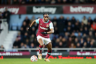 Alex Song of West Ham United wearing eye glasses in action. The Emirates FA cup, 3rd round match, West Ham Utd v Wolverhampton Wanderers at the Boleyn Ground, Upton Park  in London on Saturday 9th January 2016.<br /> pic by John Patrick Fletcher, Andrew Orchard sports photography.