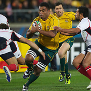 Wycliff Palu, Australia, in action during the Australia V USA, Pool C match during the IRB Rugby World Cup tournament. Wellington Stadium, Wellington, New Zealand, 23rd September 2011. Photo Tim Clayton...