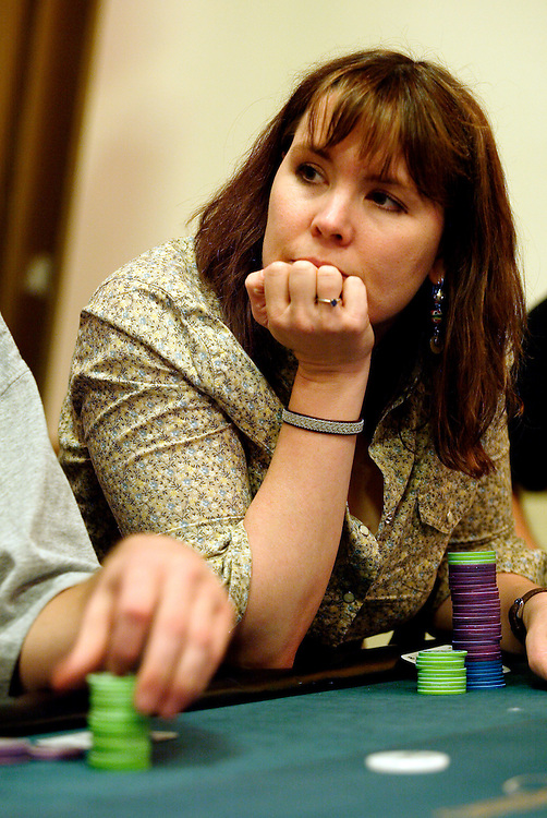 September 1, 2003: Poker professional Annie Duke at the World Poker Tour event at the Bicycle Club in Los Angeles.