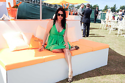 AMY PARKER at the Veuve Clicquot Gold Cup polo final held at Cowdray Park, Midhurst, West Sussex on 18th July 2010.