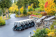 Golf course at Iron Horse in autumn in Whitefish, Montana