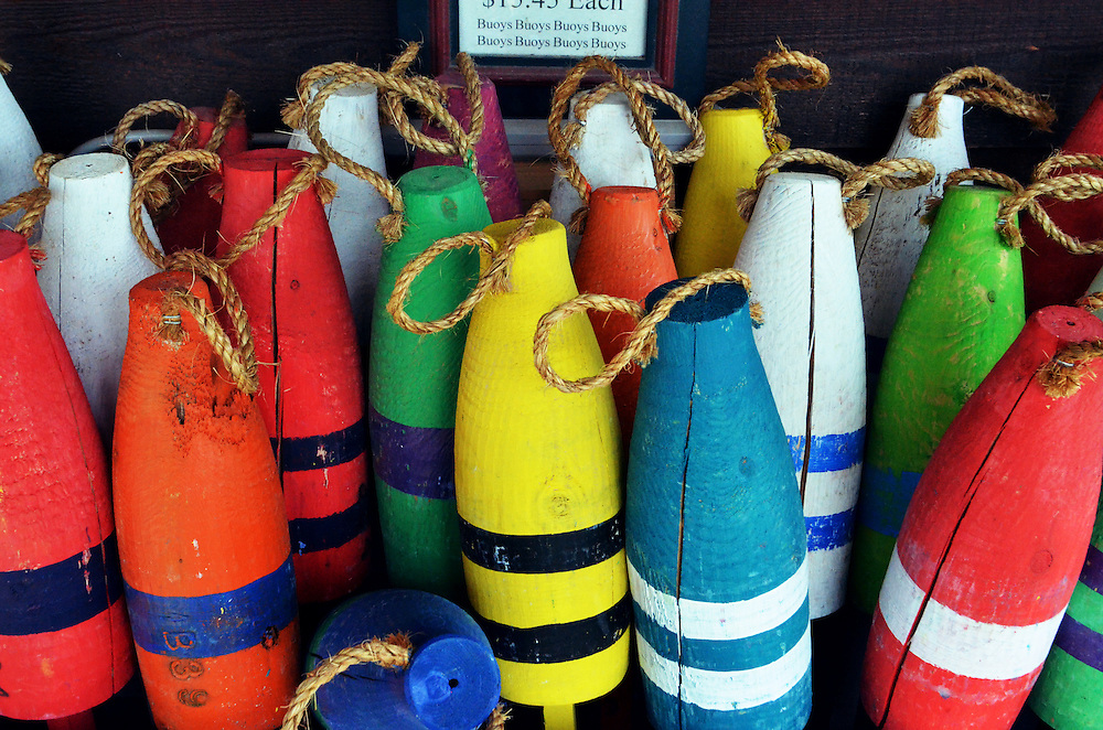 Buoys in the Outerbanks, North Carolina