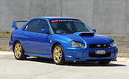 2004 MY04 Subaru Impreza WRX Sti .Cody Crocker Edition - World Rally Blue .Industrial Estate,.Port Melbourne, Victoria.21st of Janurary 2007.(C) Joel Strickland Photographics.Use information: This image is intended for Editorial use only (e.g. news or commentary, print or electronic). Any commercial or promotional use requires additional clearance.