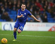 Craig Bryson of Cardiff city in action.EFL Skybet championship match, Cardiff city v Fulham at the Cardiff city stadium in Cardiff, South Wales on Boxing Day, Tuesday 26th December 2017.<br /> pic by Andrew Orchard, Andrew Orchard sports photography.