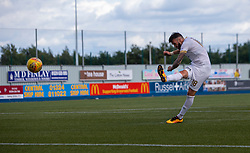 Livingston Lee Miller scores a Livingston penalty. Falkirk 1 v 1 Livingston, Livingston win 4-3 on penalties. BetFred Cup game played 13/7/2019 at The Falkirk Stadium.