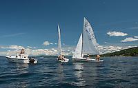 Lake Winnipesaukee Sailing enjoys a perfect day out on Lake Winnipesaukee Tuesday afternoon.  (Karen Bobotas/for the Laconia Daily Sun)