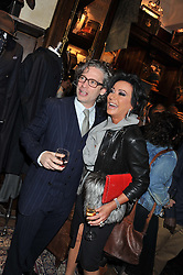DEXTER FLETCHER and NANCY DELL'OLIO at a reception hosted by Ralph Lauren Double RL and Dexter Fletcher before a private screening of Wild Bill benefitting FilmAid held at RRL 16 Mount Street, London on 26th March 2012.