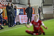 Aberdeen Manager Derek McInnes pointing, directing, signalling, gesture during the Scottish Premiership match between Aberdeen and Hibernian at Pittodrie Stadium, Aberdeen, Scotland on 6 November 2020.