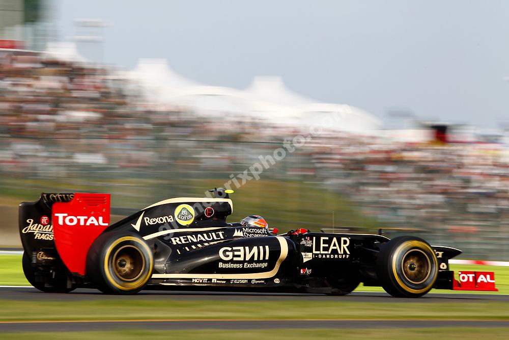 Romain Grosjean (Lotus-Renault) during practice for the 2012 Japanese Grand Prix in Suzuka. Photo: Grand Prix Photo