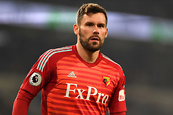 Watford goalkeeper Ben Foster looks on during the Premier League match at the Cardiff City Stadium.