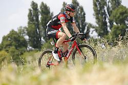 May 18, 2018 - Nervesa Della Battaglia, ITALY - Belgian Jurgen Roelandts of BMC Racing Team rides the stage 13 of the 101st edition of the Giro D'Italia cycling tour, 180km from  Ferrara to Nervesa della Battaglia, Italy, Friday 18 May 2018...BELGA PHOTO YUZURU SUNADA FRANCE OUT (Credit Image: © Yuzuru Sunada/Belga via ZUMA Press)