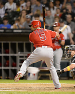 CHICAGO - SEPTEMBER 07:  Albert Pujols #5 of the Los Angeles Angels bats against the Chicago White Sox on September 7, 2019 at Guaranteed Rate Field in Chicago, Illinois.  (Photo by Ron Vesely)  Subject:   Albert Pujols