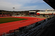 General view of John McDonnell Field at the University of Arkansas in Fayetteville, Ark., site of the 2009 NCAA Track & Field Championships