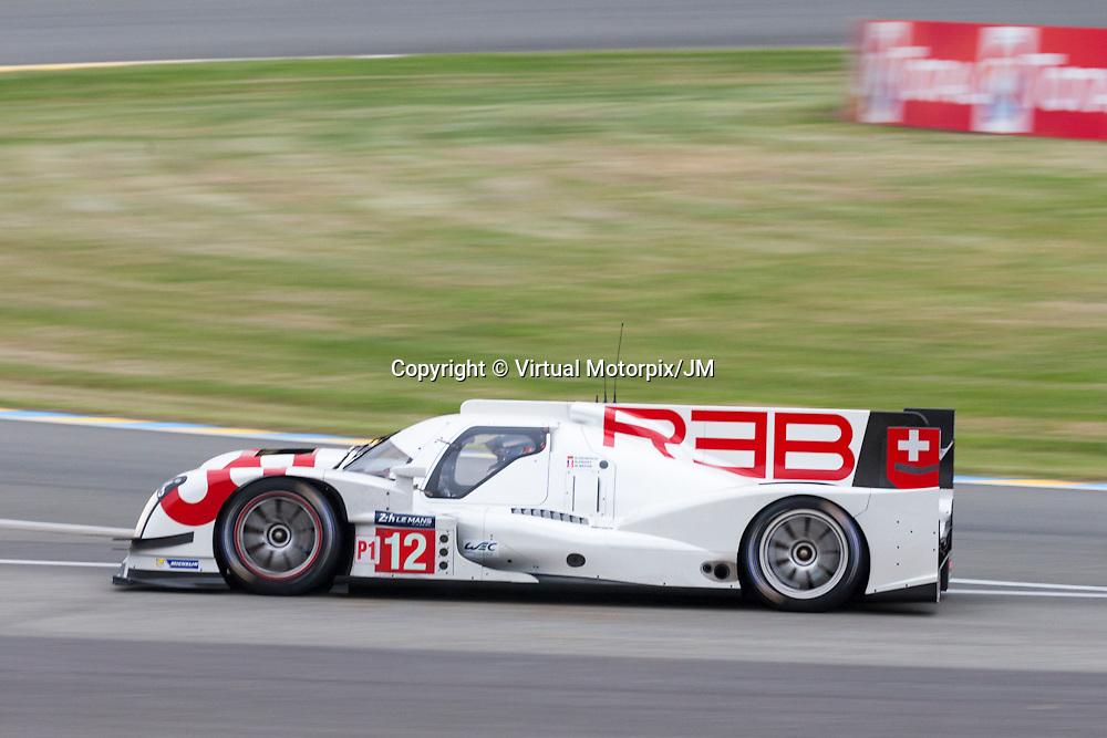 #12 Rebellion R-One AER Rebellion Racing driven by Nicolas Prost, Nick Heidfeld , Mathias Beche, Le Mans 24hr 2015, Test