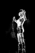 Wendy O Williams and the Plasmatics<br /> WOW arms up