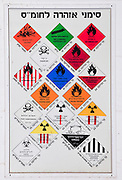 Israeli fire department Hazardous Material handling chart