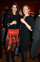 Left to right, SOPHIE HAMILTON daughter of the Duke of Abercorn and CHARLOTTE PHILLIPS at an aution of art inspired by footballer David Beckham in aid of The National Deaf Children's Society and held at Christie's, St.James's, London on 4th November 2004.<br /><br />NON EXCLUSIVE - WORLD RIGHTS