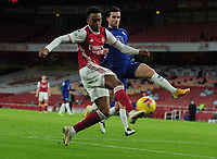 Football - 2020 / 2021 Premier League - Arsenal v Chelsea - Emirates Stadium<br /> <br /> Joseph Willock of Arsenal and Ben Chilwell of Chelsea<br /> <br /> COLORSPORT/ANDREW COWIE