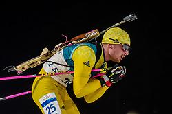 February 18, 2018 - Pyeongchang, Gangwon, South Korea - Jesper Nelin of Sweden  competing in  15 km mass start biathlon at Alpensia Biathlon Centre, Pyeongchang,  South Korea on February 18, 2018. (Credit Image: © Ulrik Pedersen/NurPhoto via ZUMA Press)