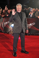 The Voice UK coach Sir Tom Jones arrives for the blind auditions in Salford, Manchester.