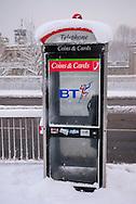 Public Telephone Box, Tower of London, City, London, England, Britain 2 Feb 2009