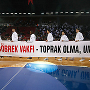 Anadolu Efes's Multiple Players during their Turkish Basketball League match Anadolu Efes between Galatasaray at Abdi Ipekci Arena in Istanbul, Turkey, Wednesday, January 04, 2012. Photo by TURKPIX
