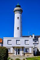 France, Morbihan (56), côte sauvage, Presqu'île de Quiberon, Quiberon, le phare de Port Maria // France, Morbihan (56), Wild Coast, Quiberon peninsula, Quiberon, the lighthouse of Port Maria