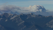 Smoke from the Wolverine fire rises above the North Cascades as wildfires scorch central Washington August 20, 2015.<br /> <br /> Bettina Hansen / The Seattle Times