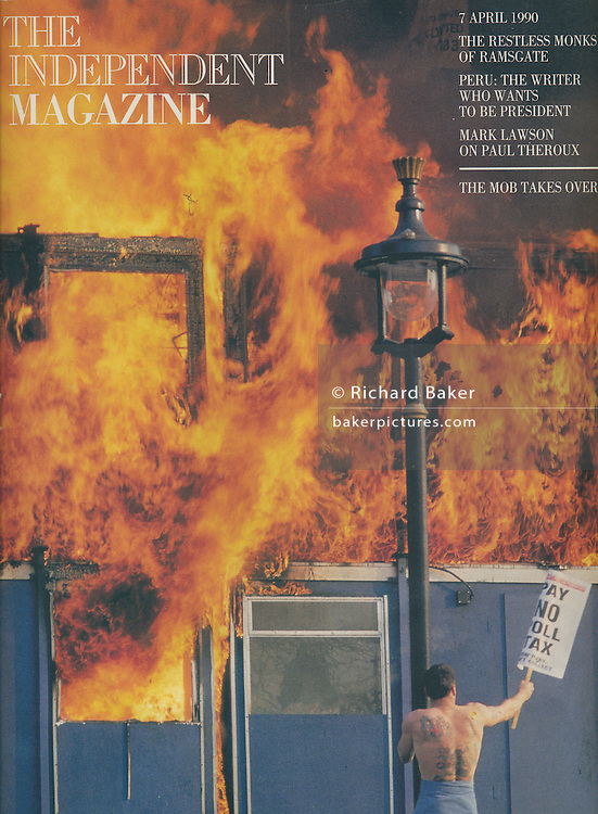 Poll Tax riot, Independent Magazine, London