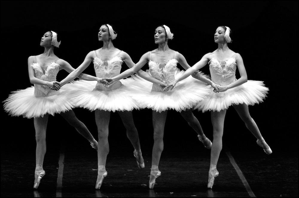 Boston Ballet performs Swan Lake during a dress rehearsal at the Wang Center.