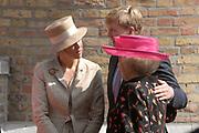 State visit of Luxembourg to the Netherlands /<br /> Staatsbezoek van Luxemburg aan Nederland<br /> <br /> On the photo / Op de foto;<br /> Farewell ceremonial on binnenhof in The Hague .<br /> queen Beatrix, maxima and Willem Alexander<br /> <br /> Afscheidsceremonieel op het Binnenhof in Den Haag<br /> Koningin Beatrix, Maxima en Willem Alexander