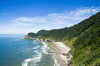 Hecata Head lighthouse. Oregon Coast.