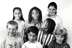 Group of children UK 1990 MR