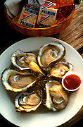 Oysters on the half shell,food photographer,miami,<br /> miami food photography