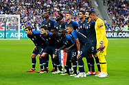 French team players before starting the game during the UEFA Nations League, League A, Group 1 football match between France and Netherlands on September 9, 2018 at Stade de France stadium in Saint-Denis near Paris, France - Photo Stephane Allaman / ProSportsImages / DPPI