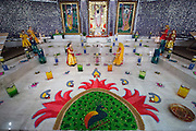 The Shreemaya Krishnadham Temple is decorated for Diwali in Milpitas, California, on November 2, 2013. (Stan Olszewski/SOSKIphoto)