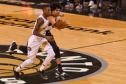 January 11, 2019 - Toronto, Ontario, Canada - Jarrett Allen #31 of the Brooklyn Nets knocks the ball out of Delon Wright #55 of the Toronto Raptors hans during the Toronto Raptors vs Brooklyn Nets NBA regular season game at Scotiabank Arena on January 11, 2019, in Toronto, Canada (Toronto Raptors win 122-105) (Credit Image: © Anatoliy Cherkasov/NurPhoto via ZUMA Press)