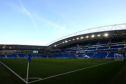 A general view of AMEX Stadium prior to the match kick off