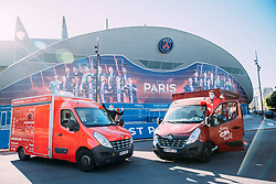 Paris Saint-Germain are providing up to 1,200 meals a day free-of-charge to help feed healthcare workers on the frontlines of the Covid-19 crisis. Volunteers from the Street Food on the Move (Street Food en Mouvement) charity have been rolling up their sleeves in the Parc des Princes kitchens since 9 April, organising daily food deliveries from the stadium to staff at Greater Paris University Hospitals via four food trucks. Paris, France on April 15, 2020. Handout photo by PSG via ABACAPRESS.COM