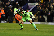 West Brom goalkeeper Ben Foster celebrates after his teammate Matej Vydra scores his sides goal to equalise 1-1.  Barclays Premier league, West Bromwich Albion v Hull city at the Hawthorns in West Bromwich, England on Saturday 21st Dec 2013. pic by Andrew Orchard, Andrew Orchard sports photography.