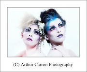 Models Emily Rose Egan and Sarah Burns, Ice Queens, make up and hair Caroline Geraghty, Photography and Concept Arthur Carron