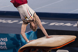 October 11, 2018 - City Of Buenos Aires, City of Buenos Aires, Argentina - SPORTS. City of Buenos Aires, Argentina, October 11, 2018.- WARD CLAEYS of Belgium competes on Artistic Gymnastics Men´s All-Around on day five of Buenos Aires 2018 Youth Olympic Games at Youth Olympic Park on October 11, 2018 in City of Buenos Aires, Argentina. (Credit Image: © Julieta Ferrario/ZUMA Wire)