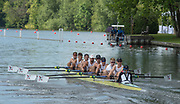 Henley on Thames, England, United Kingdom, 3rd July 2019, Henley Royal Regatta, Heat of the Temple Challenge Trophy, Northeastern University B, USA, move away from the start,  on Henley Reach, [© Peter SPURRIER/Intersport Image]<br /> <br /> 10:05:49 1919 - 2019, Royal Henley Peace Regatta Centenary,