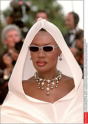 © Hahn-Khayat/ABACA. 25874-12. Cannes-France, 16/05/2001. Grace Jones arrives at the Palais des Festival for the screening of Va Savoir, directed by French Jacques Rivette at the 54th Cannes Film Festival.f  | 25874_12