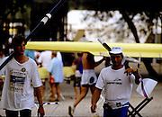 Barcelona Olympics 1992 - Lake Banyoles, SPAIN,  SLO M2-  [left] COP Iztok,.ZVEGELJ Denis, Photo: Peter Spurrier.       {Mandatory Credit: © Peter Spurrier/Intersport Images]..